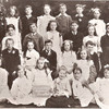Pupils of Chipstead Primary  School, with headmaster, Mr Underwood (right), 1901