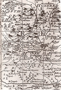 North East Surrey Map of 1720