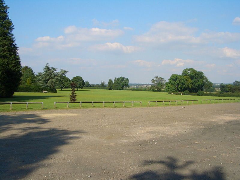 Chipstead Meads car park, looking north east towards Coulsdon, summer 2007
