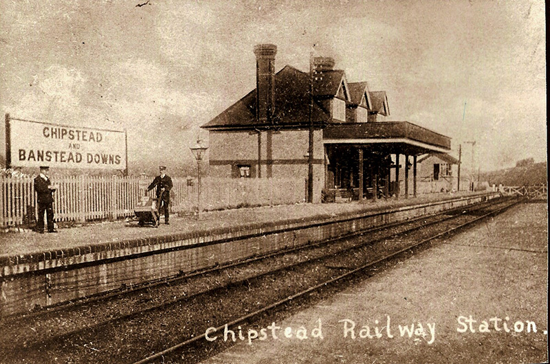Chipstead railway station, circa 1900